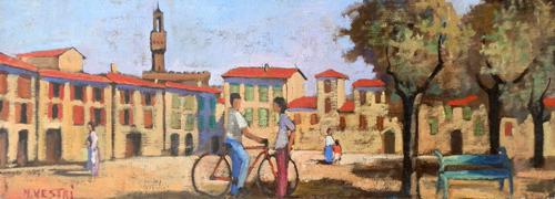 Art work by M. Vestri Incontro casuale - oil canvas