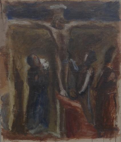 Quadro di Mario Marcucci Crocifissione - olio faesite