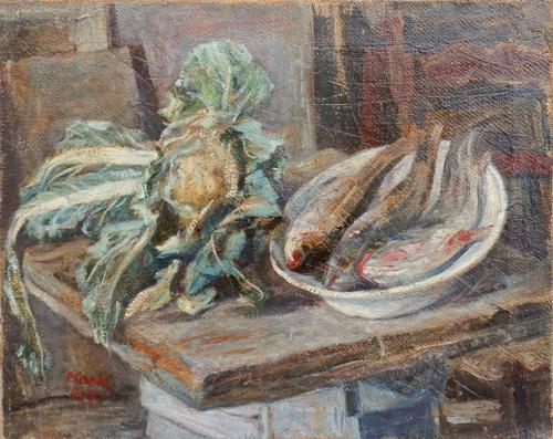 Quadro di Primo Conti Natura Morta - olio tela
