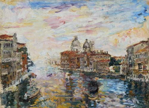 Quadro di Guido Borgianni Venezia - olio tela