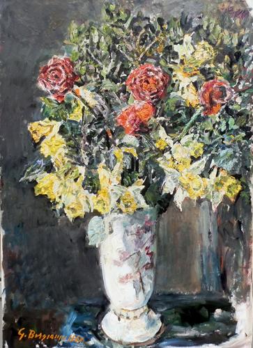 Quadro di Guido Borgianni Fiori - olio tela