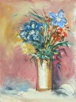 Quadro di  Papas - Vaso di fiori mista tavola