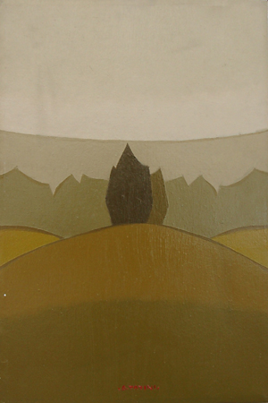Quadro di Alviero Tatini In Toscana - olio tela