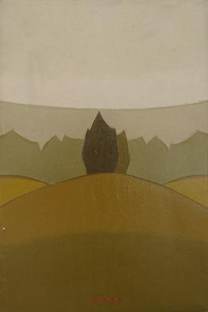 Art work by Alviero Tatini In Toscana - oil canvas