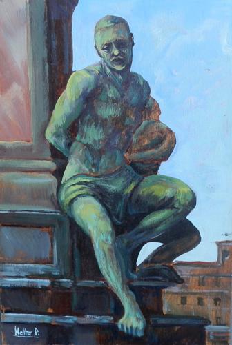 Quadro di Paolo Netto Livorno,il Moro - olio tavola