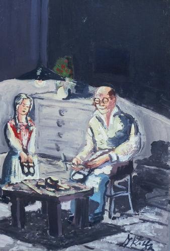 Quadro di F. Rolli Composizione - Pittori contemporanei galleria Firenze Art