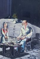 Work of F. Rolli - Composizione oil table