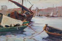 Quadro di  Bruzzone  Barche