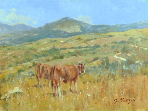 Art work by Graziano Marsili Pascolo sull'Appennino - oil table