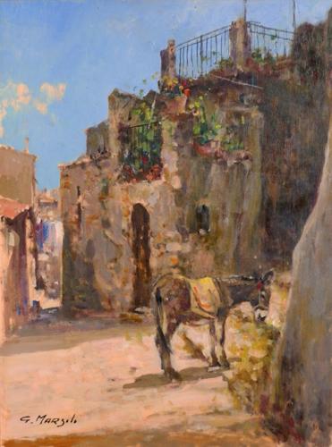 Quadro di Graziano Marsili Gangi - Sicilia - olio tavola