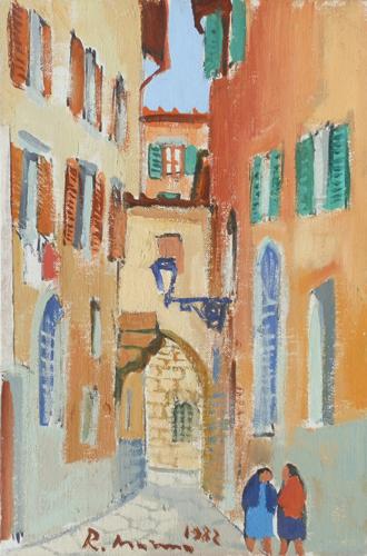 Quadro di Rodolfo Marma Vicolo Altoviti - olio cartone telato