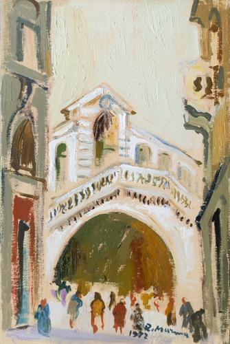 Quadro di Rodolfo Marma Ponte di Rialto - Venezia - olio tavola