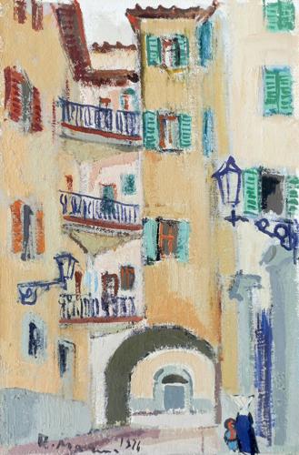 Quadro di Rodolfo Marma Volta dei tintori - olio cartone telato