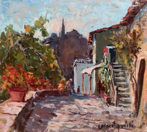 Artwork by Umberto Paoletti, oil on table | Italian Painters FirenzeArt gallery italian painters