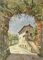 Quadro di A. Bernardini  Casa colonica