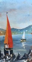 Quadro di  Parziale - Barche olio tavola