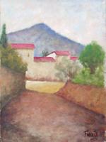 Quadro di Giancarlo Fioretti - Paesaggio olio cartone