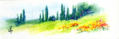 Art work by Roberto Lopez Fuentevilla Paesaggio - watercolor paper
