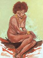 Quadro di M. Maurri  Nudo di donna