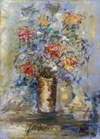 Quadro di Giuseppe Innocenti - Vaso di fiori olio cartone telato