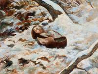 Quadro di  Bruzzone  Scarpe sulla neve