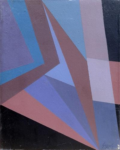 Quadro di  Greco Astratto classico - olio tela
