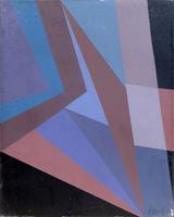 Quadro di  Greco - Astratto classico olio tela