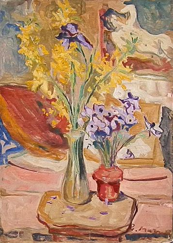 Quadro di Rodolfo Marma Composizione con fiori - olio tavola