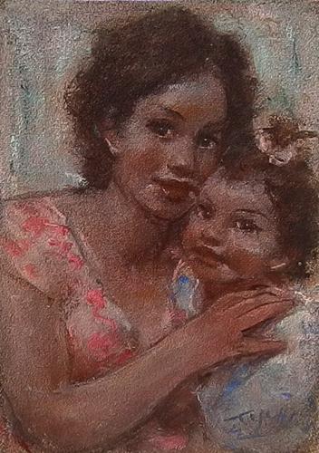 Quadro di Ermanno Toschi  Maternità - mista faesite