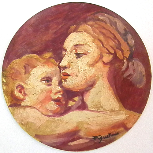 Quadro di Luigi Pignataro Maternità - olio tavola