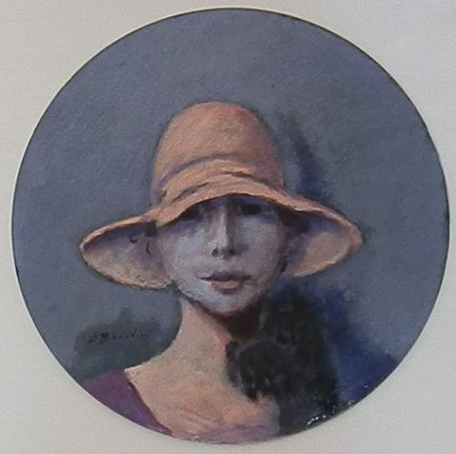 Quadro di Umberto Bianchini Il cagnolino, mista su cartone 41 x 41 | FirenzeArt Galleria d'arte