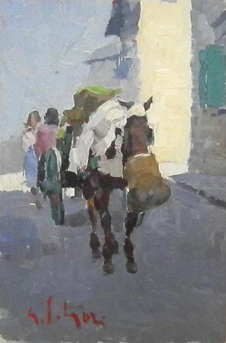 Quadro di Gino Paolo Gori Somarello - olio tavola