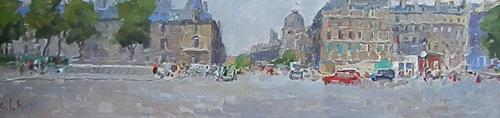 Quadro di Gino Paolo Gori Parigi - olio cartone telato