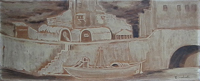 Quadro di Emilio Malenotti - Paesaggio olio faesite