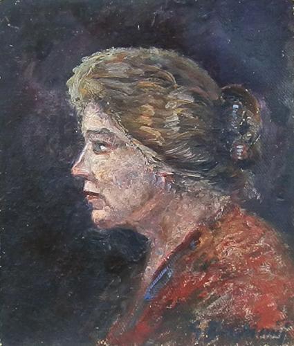 Quadro di Guido Borgianni Ritratto  - olio cartone