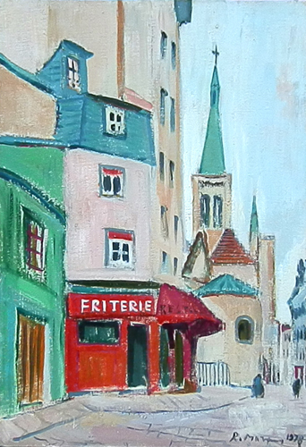 Quadro di Rodolfo Marma Parigi  - olio cartone telato