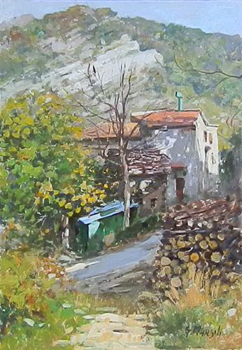 Quadro di Graziano Marsili Paesaggio - olio cartone