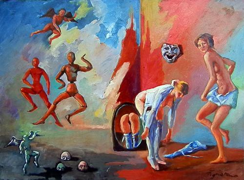 Quadro di Luigi Pignataro Sogno - olio tavola