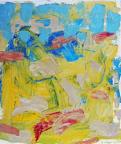 Quadro di Andrea Tirinnanzi Paesaggio - stucchi colorati tavola