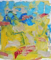 Quadro di Andrea Tirinnanzi - Paesaggio stucchi colorati tavola