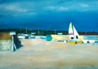 Work of Salvatore Magazzini  Barche in secca