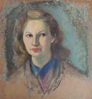 Quadro di Rodolfo Marma - Ritratto di donna olio faesite