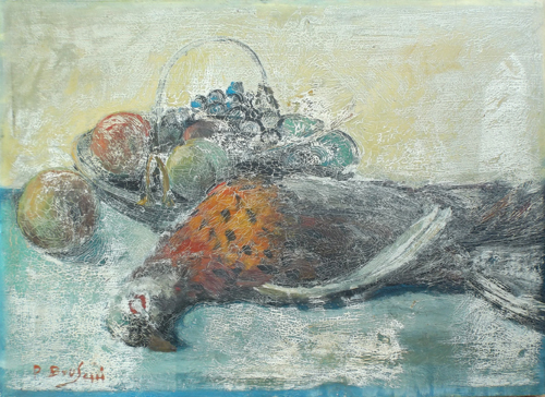 Art work by P. Bruschi Natura Morta - oil table