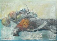 Quadro di P. Bruschi - Natura Morta olio tavola