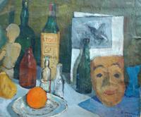 Quadro di Rodolfo Marma - Composizione olio cartone