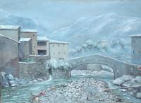 Quadro di Paolo Galli - Paesaggio  olio tavola