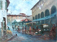 Quadro di E. Nerucci  Mercato