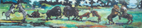 Quadro di Luigi Pignataro - L'immagine e la fantasia olio faesite