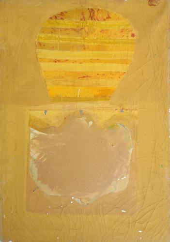 Art work by Raffaello Gori Nel profondo della mente - enamel canvas cardboard