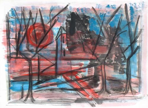 Quadro di Alvaro Baragli Paesaggio  - mista carta